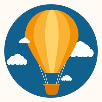 Progettazione di airballoon sopra l'illustrazione bianca di backgroundvector