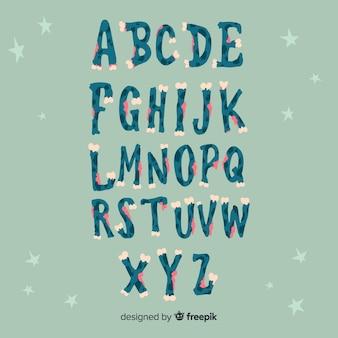 Progettazione di alfabeto di halloween
