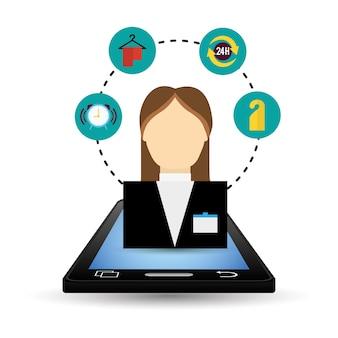 Progettazione di app digitali per smartphone e hotel