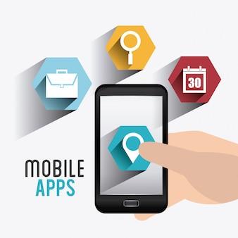 Progettazione di app mobili.