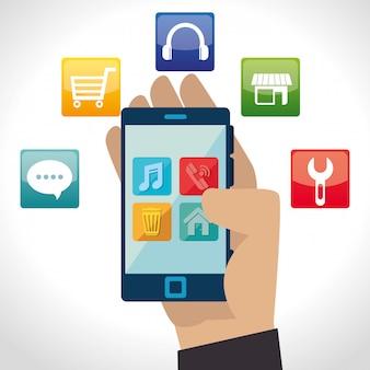 Progettazione di applicazioni mobili per e-commerce e mercato.