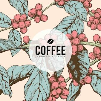 Progettazione di arte del fondo del caffè