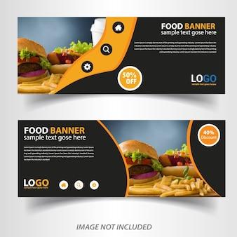 Progettazione di banner web cibo vegetale per ristorante