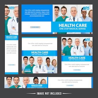 Progettazione di banner web di assistenza sanitaria medica
