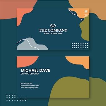 Progettazione di biglietti da visita di graphic designer