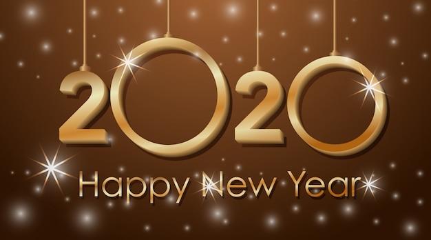 Progettazione di biglietti di auguri per il nuovo anno 2020