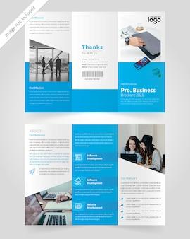 Progettazione di brochure a tre ante aziendale