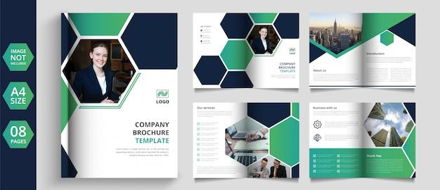 Progettazione di brochure aziendali con pagine moderne