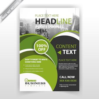 Progettazione di business brochure verde