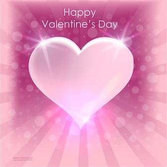 Progettazione di carta di vettore del manifesto del cuore luminoso di san valentino. sfondo vettoriale astratta februar