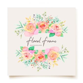 Progettazione di carta floreale dell'acquerello dell'invito di nozze