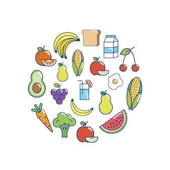 Progettazione di cibo gustoso backgrou nutrizione