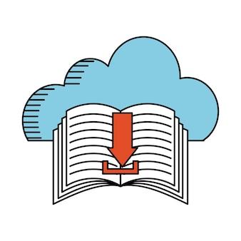 Progettazione di cloud computing, illustrazione grafica vettoriale eps10