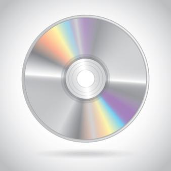 Progettazione di compact disc sopra illustrazione vettoriale sfondo grigio