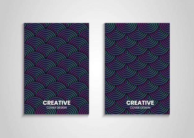 Progettazione di copertura decorazione gradiente cerchi, sfondo copertina moderna con cerchi gradiente