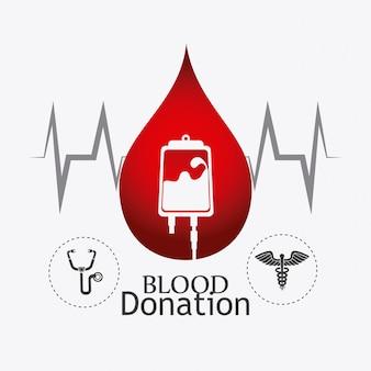 Progettazione di donazioni di sangue.