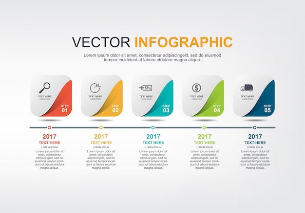 Progettazione di elementi infographic con opzioni