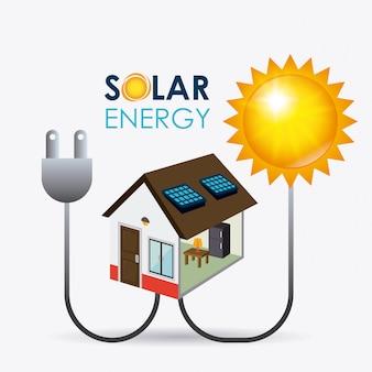 Progettazione di energia solare.