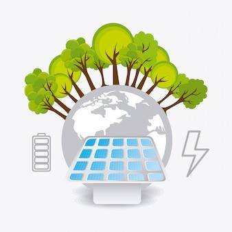Progettazione di energia verde.
