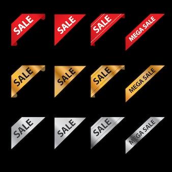 Progettazione di etichette di vendita, offerta speciale e cartellini dei prezzi