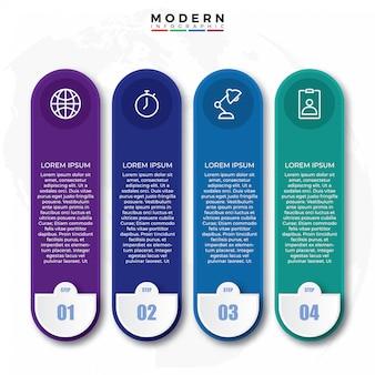 Progettazione di etichette infografiche creative