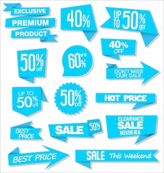 Progettazione di etichette o cartellini sconto vendita