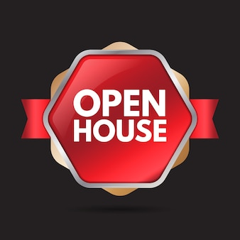 Progettazione di etichette open house