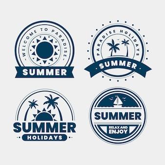 Progettazione di etichette vintage estive
