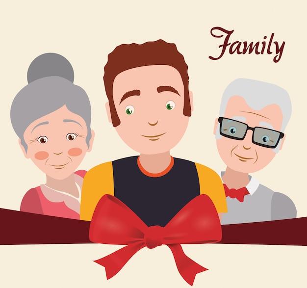 Progettazione di famiglia e nonni