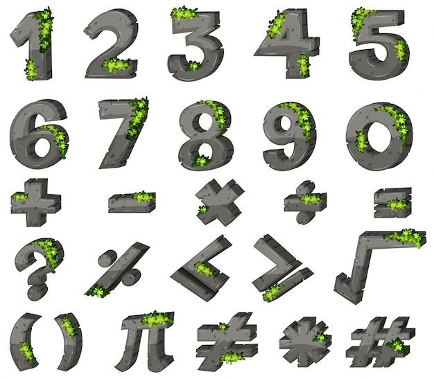 Progettazione di font per numeri e segni