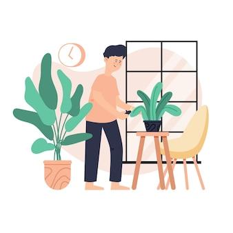 Progettazione di giardinaggio a casa