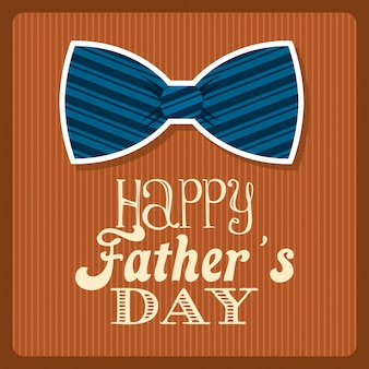Progettazione di giorno di padri su sfondo arancione