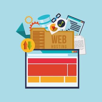 Progettazione di hosting web