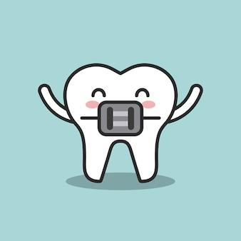 Progettazione di igiene dentale, grafico dell'illustrazione eps10 di vettore