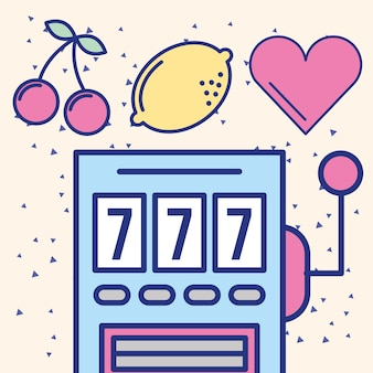 Progettazione di immagine di gioco del casinò del jackpot di slot machine