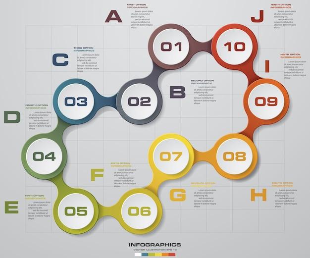 Progettazione di infographics di affari con 10 punti