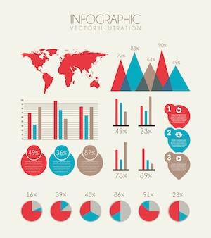 Progettazione di infographics sopra l'illustrazione bianca di vettore del fondo