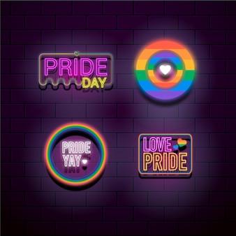 Progettazione di insegne al neon del pride day