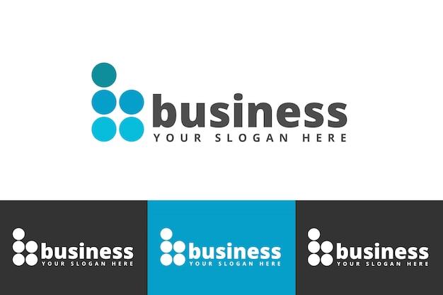 Progettazione di logo di affari creativi isolata su fondo bianco
