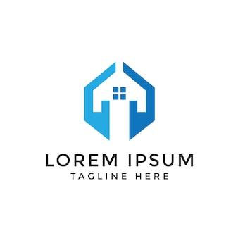Progettazione di logo di mani di casa astratta