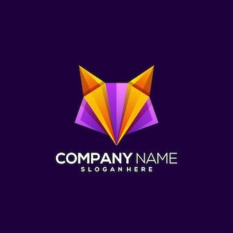 Progettazione di logo di vettore di volpe