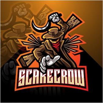 Progettazione di logo mascotte esport spaventapasseri