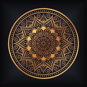 Progettazione di lusso dell'illustrazione della mandala di arabesque