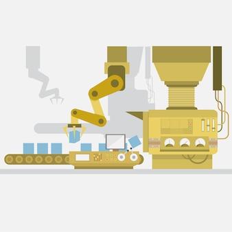 Progettazione di macchine fabbrica di sfondo