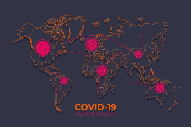 Progettazione di mappe coronavirus
