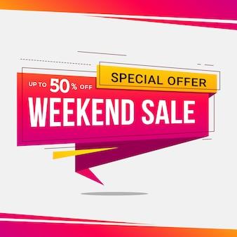 Progettazione di modelli di banner di vendita. tag offerta speciale