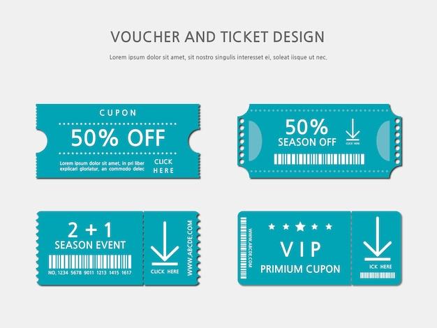 Progettazione di modelli di biglietti o buoni
