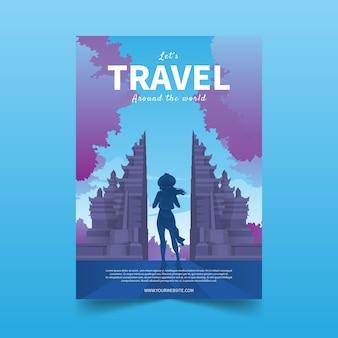 Progettazione di modelli di poster in viaggio