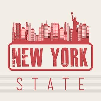 Progettazione di new york sopra l'illustrazione rosa di vettore del fondo