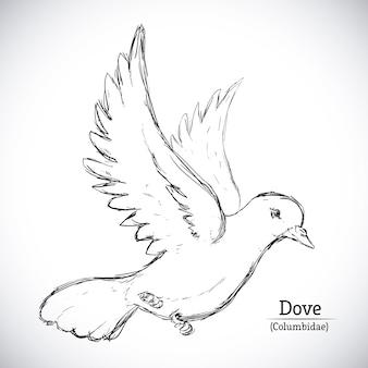Progettazione di pace sopra illustrazione vettoriale sfondo grigio